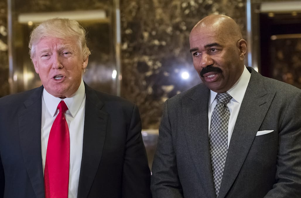 Steve Harvey speaks out on his meeting with Donald Trump