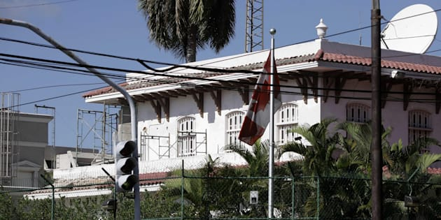 A view of the Canadian Embassy in Havana, Cuba on Oct. 29, 2009.