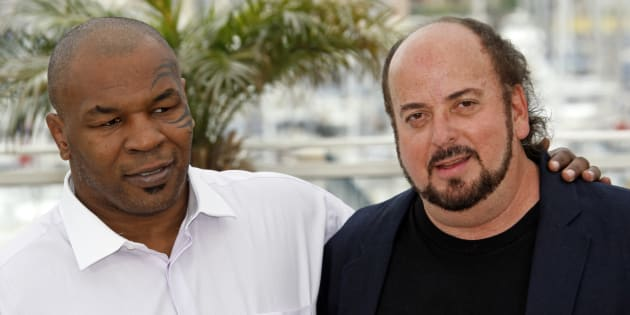 "U.S. director James Toback (R) and former world heavyweight champion Mike Tyson pose during a photocall for the documentary film ""Tyson"" at the 61st Cannes Film Festival May 17, 2008.   REUTERS/Jean-Paul Pelissier  (FRANCE)"