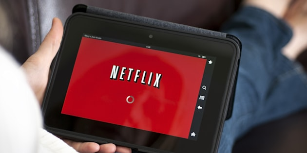Netflix loads on a tablet.