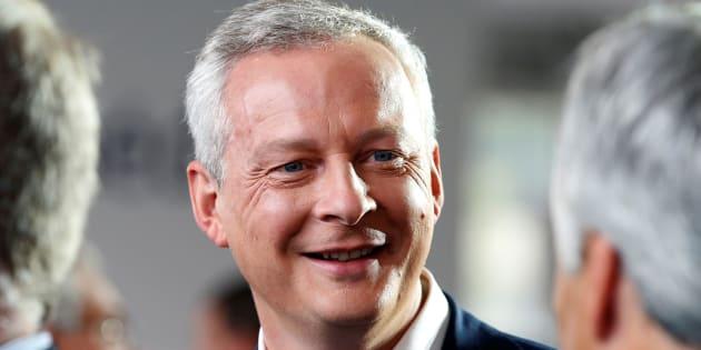 Bruno Le Maire au MEDEF le 31 août 2016. REUTERS/Charles Platiau