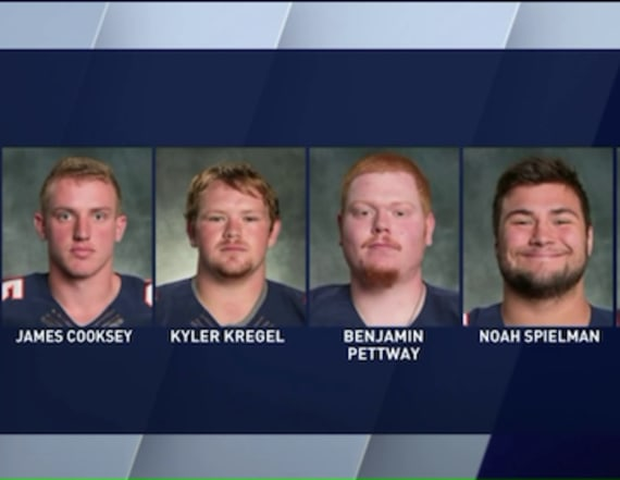 College football players charged in hazing incident