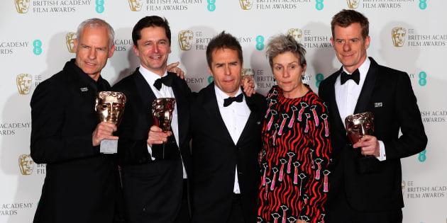 """""""Three Billboards: les panneaux de la vengeance"""" triomphe aux BAFTA et conforte son statut de favori des Oscars."""
