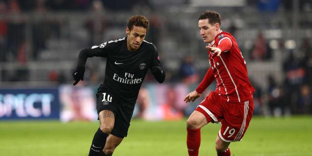 Neymar n'a pas marqué sur la pelouse du Bayern Munich ce 5 décembre 2017.