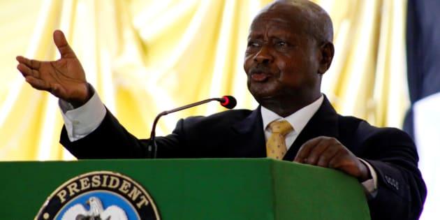 President of Uganda Yoweri Museveni refuses to relinquish power.