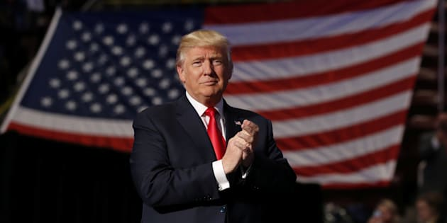 President-elect Donald Trump arrives to speak at a USA Thank You Tour 2016 at the Giant Center on December 15, 2016 in Hershey, Pennsylvania.  / AFP / Don EMMERT        (Photo credit should read DON EMMERT/AFP/Getty Images)