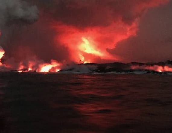 Family recalls terrifying moment lava bomb hit boat
