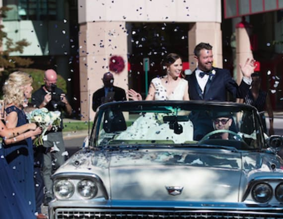 Cancer survivors marry after meeting at hospital