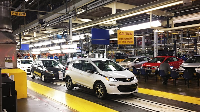 Chevy Bolt EV plant shutdown extended, due to slow Sonic sales