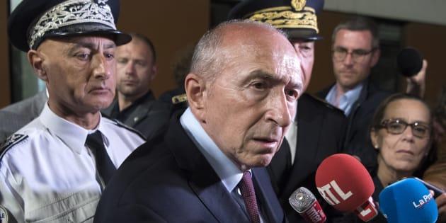 Gérard Collomb dans les quartiers nord de Marseille le 24 mai.