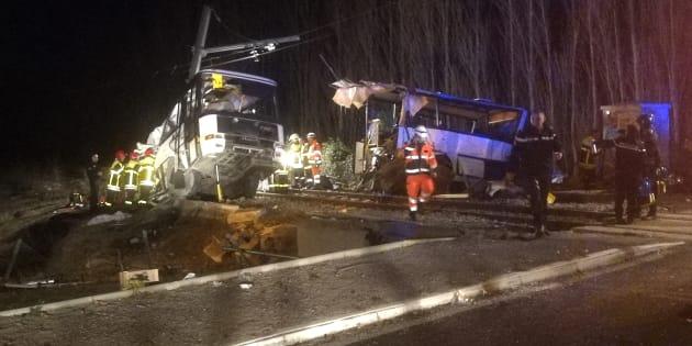 Collision entre un train et un car à Millas: un nouveau bilan fait état de six morts