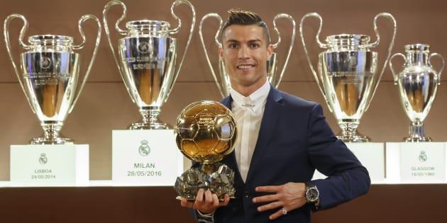 Cristiano Ronaldo à la cérémonie de remise du Ballon d'or, lundi 12 décembre 2016.
