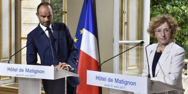 Le Premier ministre Edouard Philippe et la ministre du Travail Muriel Pénicaud à Matignon le 31 août.