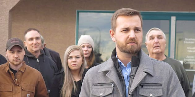 Derek Fildebrandt is shown in Strathmore, Alta., Jan.26, 2015.