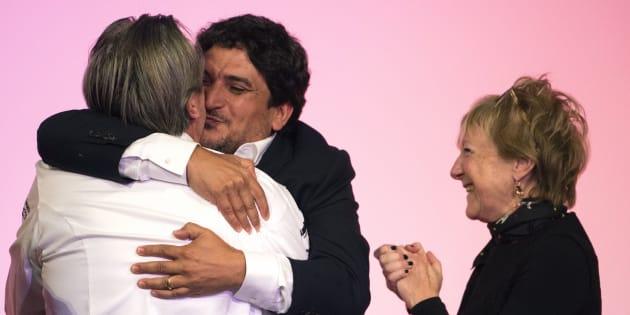 Le chef italo-argentin Mauro Colagreco et le Français Laurent Petit, tous les deux trois étoiles dans le guide Michelin 2019.