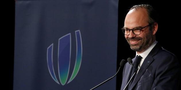 AFP  Getty Images                       Le gros lapsus d'Édouard Philippe au lancement officiel de l'organisation de la Coupe du monde de rugby 2023