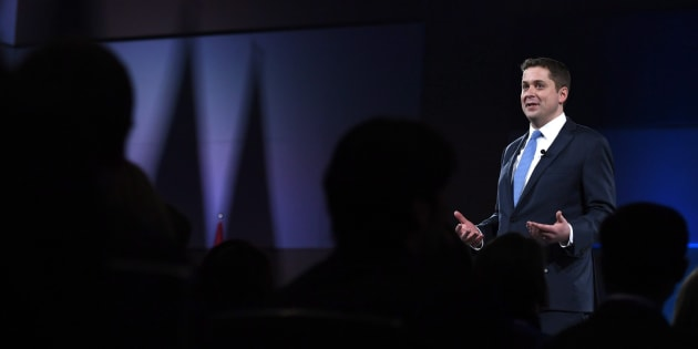 Conservative Leader Andrew Scheer speaks at the Manning Networking Conference in Ottawa on Feb. 9, 2018.