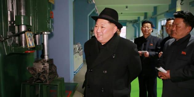 Kim Jong-Un à Pyongyang le 1er février 2018. KCNA/via REUTERS