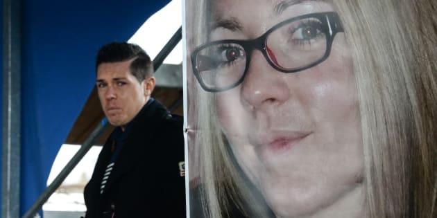 Jonathann Daval, ici le 5 novembre 2017 à Gray, en Haute-Saône, a craqué et de nouveau avoué qu'il avait tué sa femme Alexia.