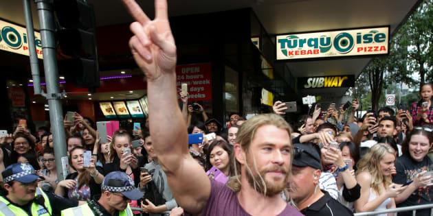 Hemsworth has recently been filming Thor: Ragnarok in Australia.