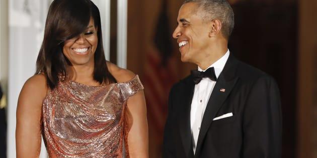 Michelle et Barack Obama à la Maison Blanche le 18 octobre 2016.