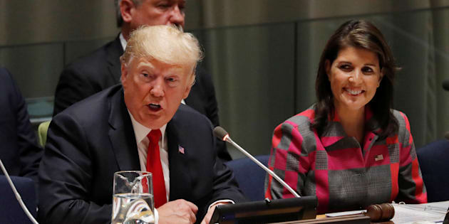 Donald Trump et Nikki Haley à New York le 24 septembre 2018