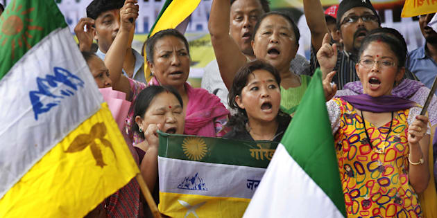 Clashes Erupt in Darjeeling Between Gorkha Janmukti Morcha and Police