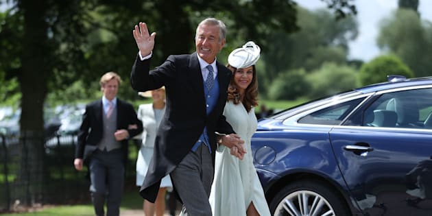 David Matthews and his wife Jane arrive last year at the wedding of his son James and Pippa Middleton