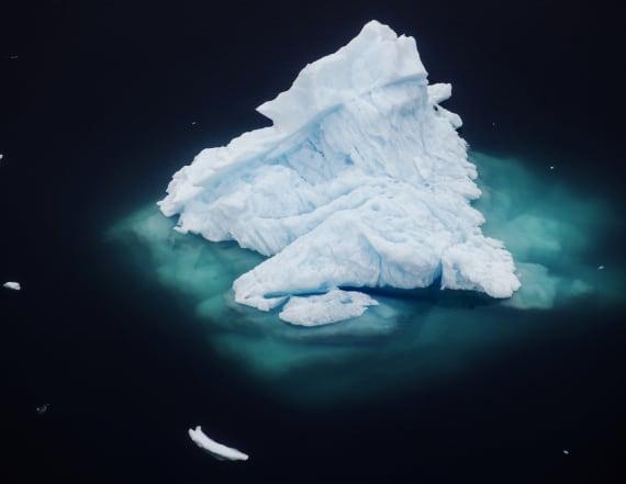 Drone photos of glacier show climate change's impact