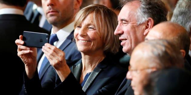 François Bayrou et Marielle De Sarnez à l'Elysée le 14 mai.