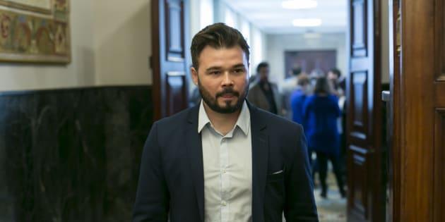 Gabriel Rufian en el parlamento.