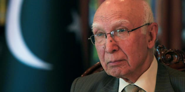 Adviser to Pakistan's Prime Minister on National Security and Foreign Affairs, Sartaj Aziz, in a file photo.