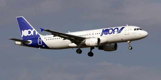 Un Airbus A320 de Joon atterrissant à Rome en septembre 2018