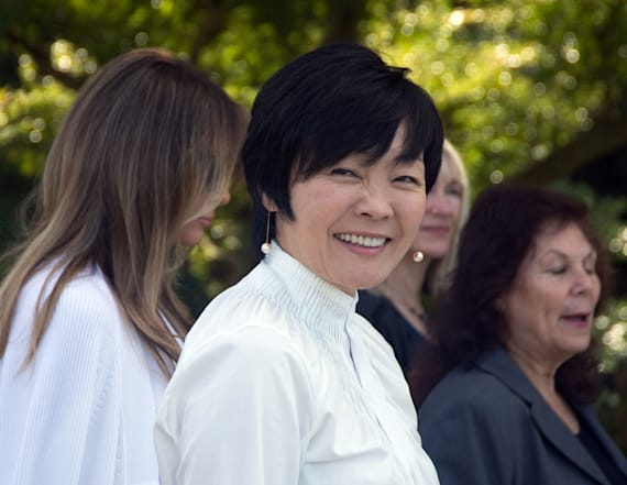 Japan's first lady may have avoided Trump