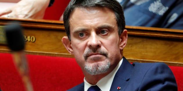 Manuel Valls à l'Assemblée nationale le 24 octobre 2017.