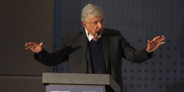 El presidente electo de México Andrés Manuel López Obrador, habla durante la presentación del Plan Nacional de Paz y Seguridad 2018-2024, entre cuyos ejes está la creación de una Guardia Nacional para combatir la violencia e inseguridad en el país.