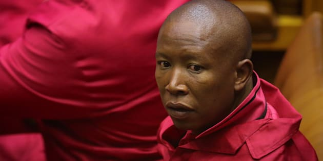 Leader of the Economic Freedom Fighters Julius Malema is pictured ahead of President Jacob Zuma's State of the Nation Address (SONA) to a joint sitting of the National Assembly and the National Council of Provinces in Cape Town, South Africa February 9, 2017.