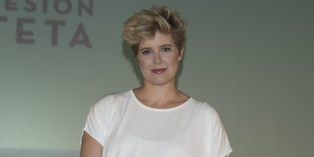 Tania Llasera en la presentación de la 'Sesión Teta' en los cines de la Vaguada de Madrid, en mayo de 2017.