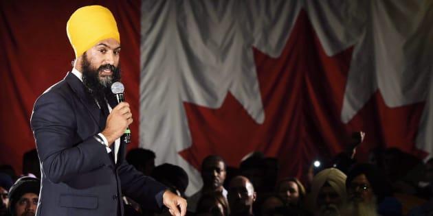 Ontario deputy NDP leader Jagmeet Singh launches his bid for the federal NDP leadership in Brampton, Ont., on May 15, 2017.