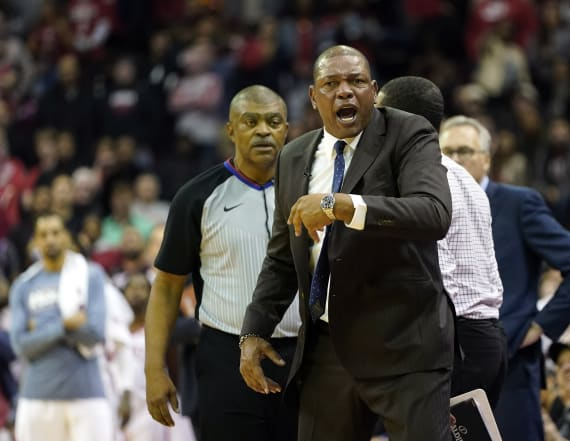 NBA player on opposition team eggs on dad's ejection
