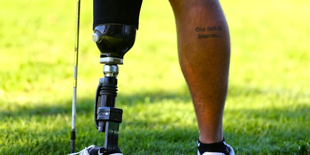 Byron Calvert during day one of the Canon South African Disabled Golf Open at the Mowbray King David Golf Club on May 15 2017 in Cape Town.