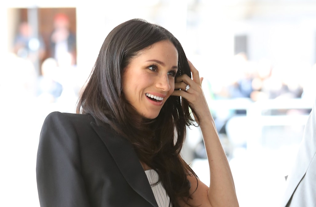 dcad9b6494ff Meghan Markle's $1,995 sleeveless dress called 'inappropriate' - AOL ...