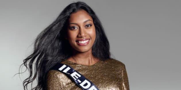 Meggy Pyaneeandee, Miss Île-de-France, a eu 18/20 au test de culture générale préparé par Sylvie Tellier.