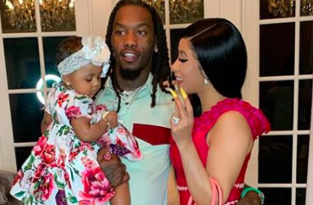 So Sweet! Cardi B Shares Rare Family Photo With Offset And