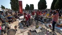 Inician la exhumación de cerca de 100 fusilados de una fosa común de