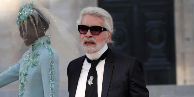 Karl Lagerfeld au Grand Palais en juillet 2018. REUTERS/Gonzalo Fuentes