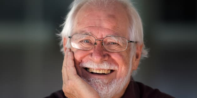 One of the three winners of the 2017 Nobel Prize in Chemistry, Swiss Scientist Jacques Dubochet poses for a picture after he gave lectures at the Lausanne University on the day after the prize's announcement on October 5, 2017 in Lausanne. Jacques Dubochet, Joachim Frank and Richard Henderson were awarded the Nobel Chemistry Prize for cryo-electron microscopy, a simpler and better method for imaging tiny, frozen molecules. Thanks to their team's new 'cool method', involving electron beams to photograph bits of cells, 'researchers can now routinely produce three-dimensional structures of biomolecules', the Nobel chemistry committee said. / AFP PHOTO / Fabrice COFFRINI (Photo credit should read FABRICE COFFRINI/AFP/Getty Images)