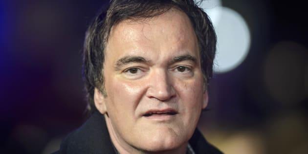 """Tarantino na premiére do longa """"Os Oito Odiados"""", na Leicester Square, em Londres."""