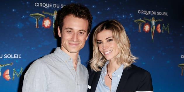 Hugo Clément et sa compagne, l'ancienne miss France Alexandra Rosenfeld, fin octobre à Paris.
