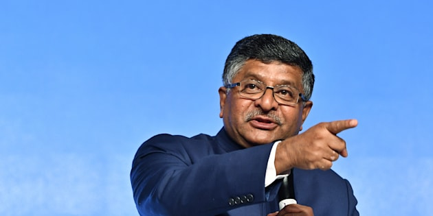 Ravi Shankar Prasad, India's minister for law and justice and information technology, speaks during a Google Inc. news conference in New Delhi, India, on Wednesday, Jan. 4, 2017. Google expects to have a dedicated cloud region for India later this year, Chief Executive Officer Sundar Pichai said. Photographer: Anindito Mukherjee/Bloomberg via Getty Images